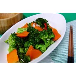 青花菜炒紅蘿蔔片
