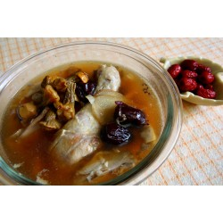 巴西菇燉雞湯